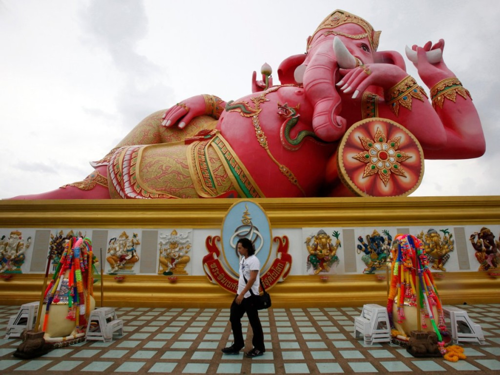 this-bright-pink-statue-of-ganesha--a-beloved-hindu-god--sits-in-the-chachoengsao-province-of-thailand-it-measures-52-feet-high-and-78-feet-wide