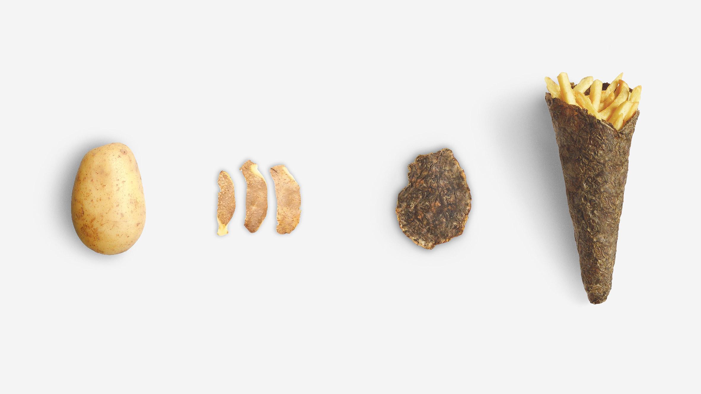 Opakowania ze skórek ziemniaków