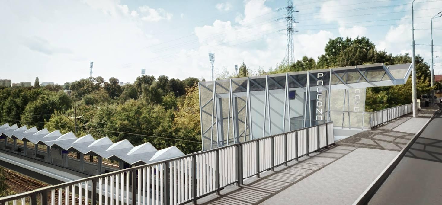 Modernistyczna wiata kolejki w Szczecinie