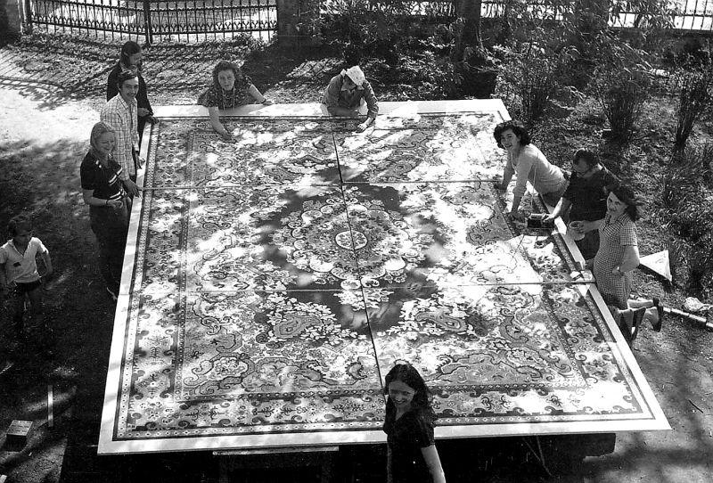 mozaika dywanu w Kowarach