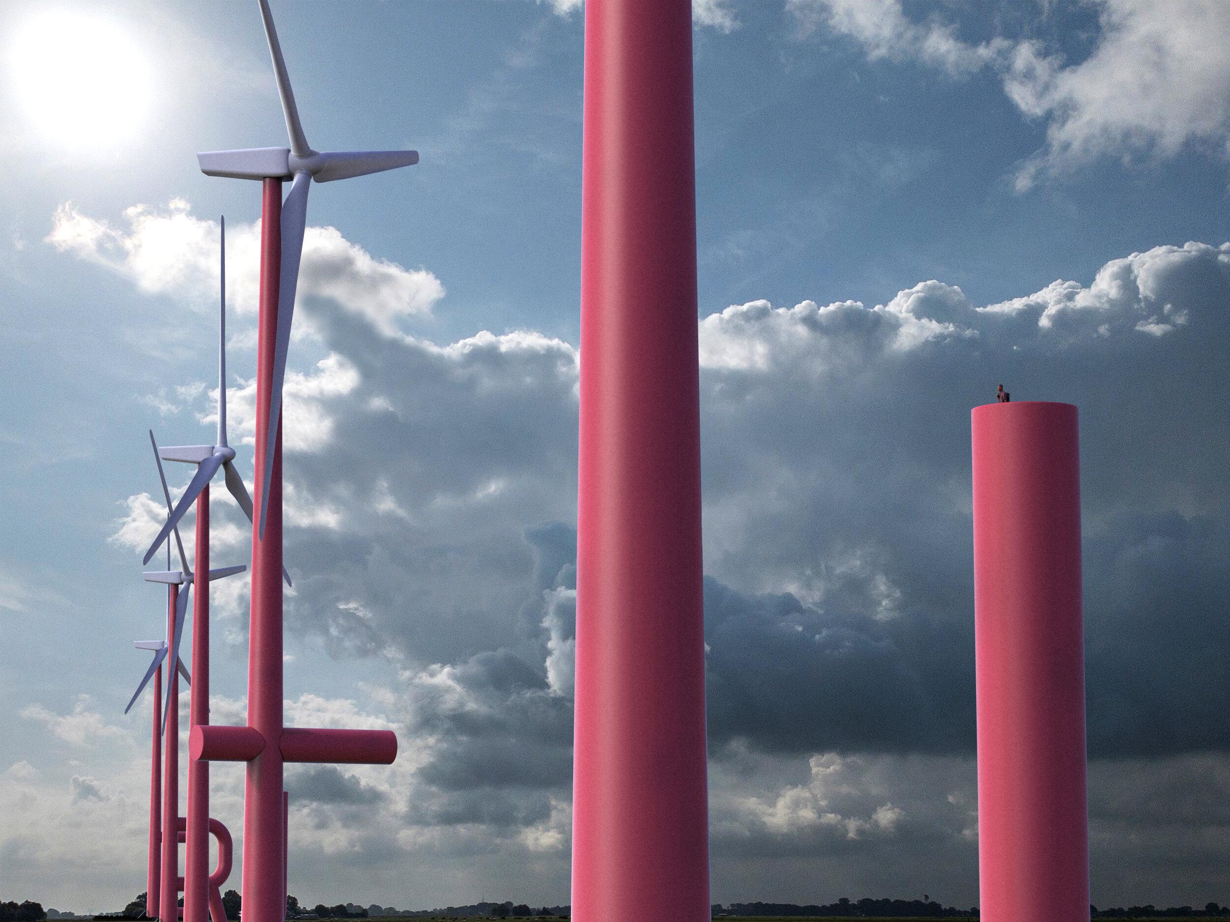 Turbiny wiatrowe jak litery