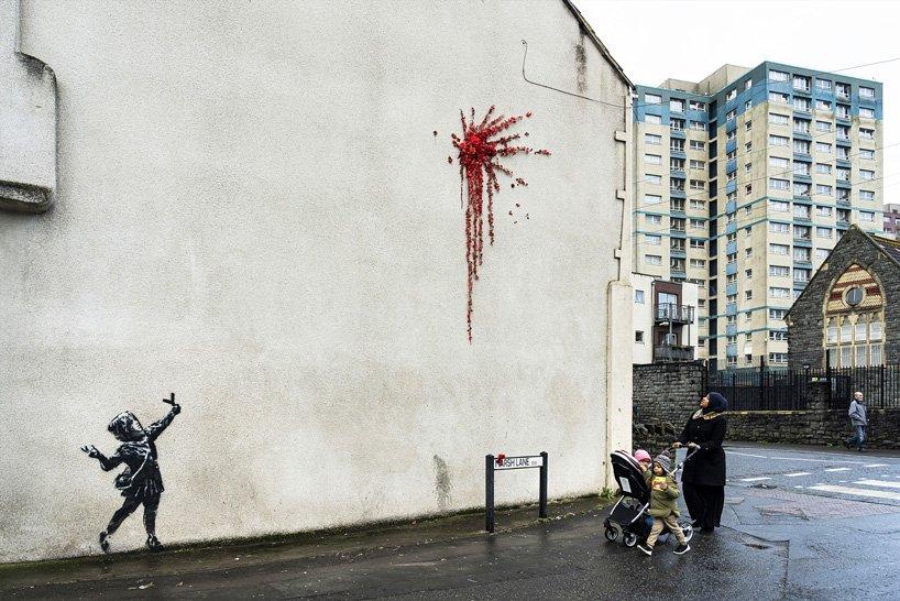 Walentynkowy mural Banksy'ego