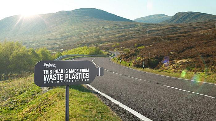Drogi z plastikowych butelek