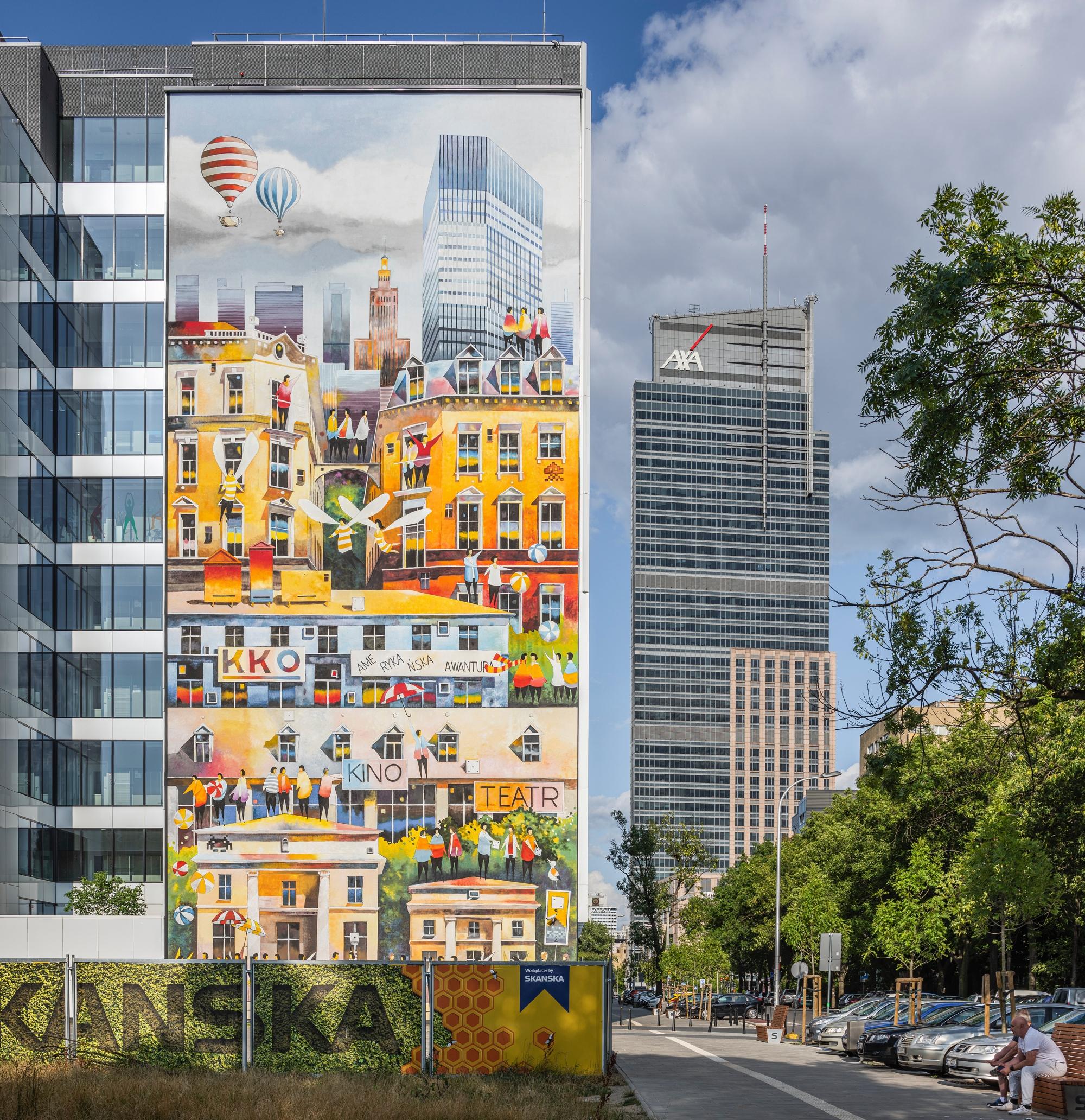 mural w Warszawie