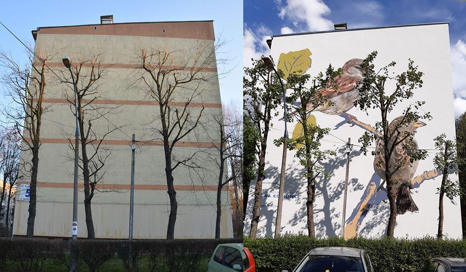 murale na blokach
