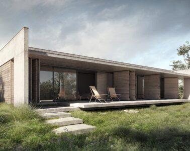 jednorodzinny dom z betonu