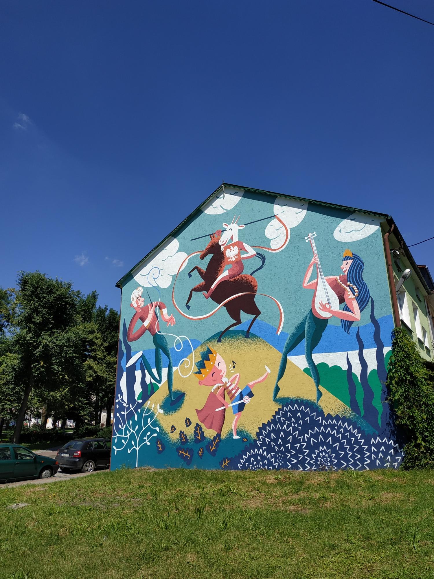 koziołek matołek mural