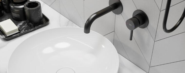 Czarna armatura łazienkowa