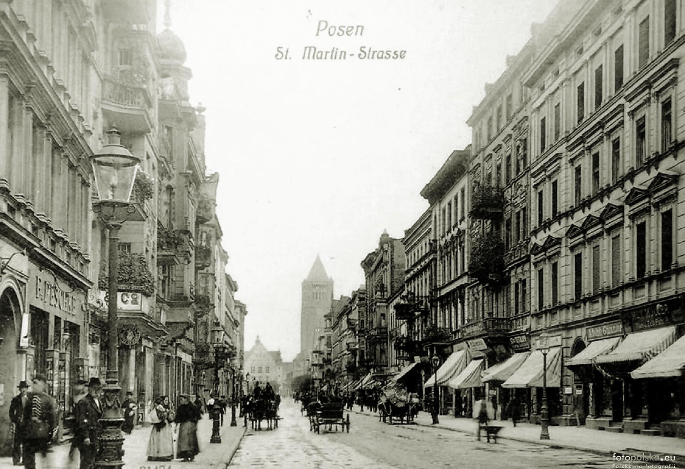 Widok na ulicę Święty Marcin z 1910 roku