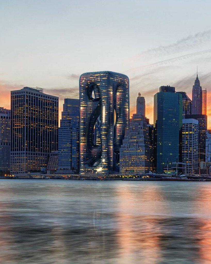 Amorficzny wieżowiec w Nowym Jorku