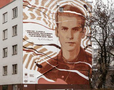 Mural Krzysztofa Kamila Baczyńskiego