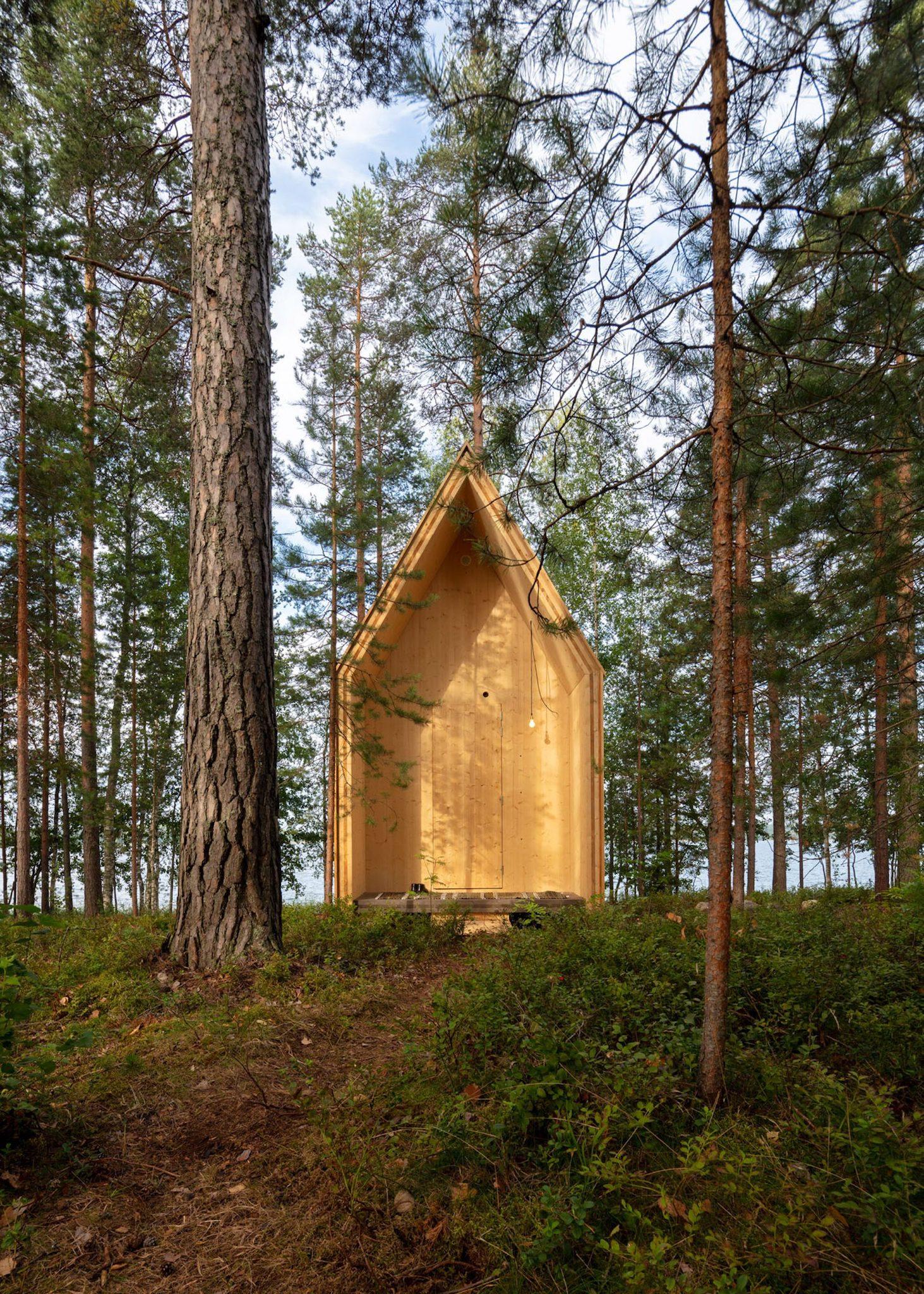 domek w fińskim lesie