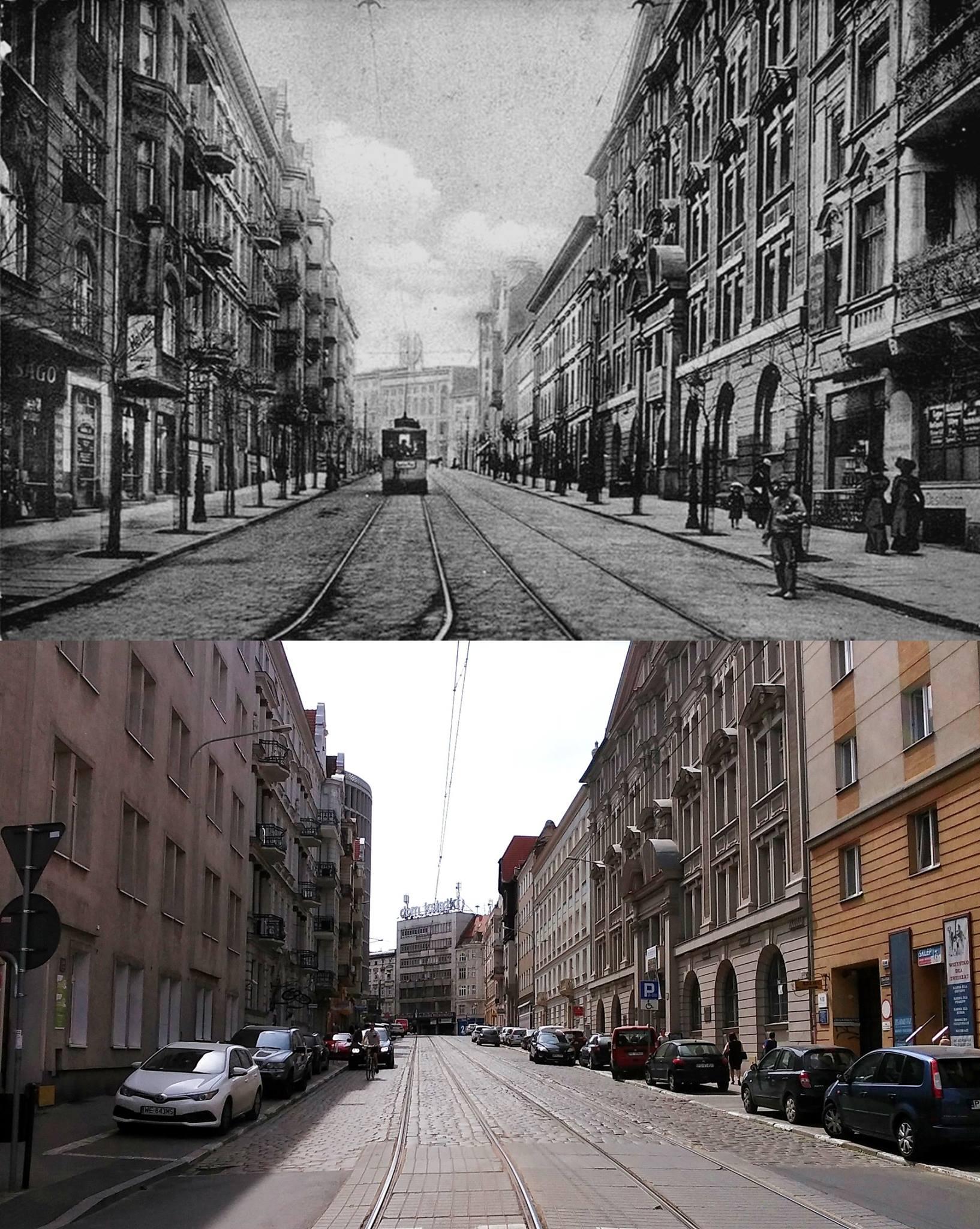 Widok na ulicę Mielżyńskiego