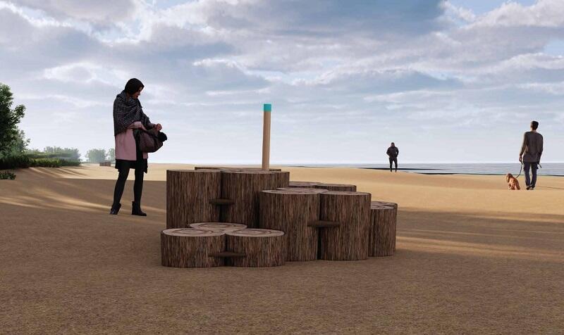 Gdańska ławeczka plażowa