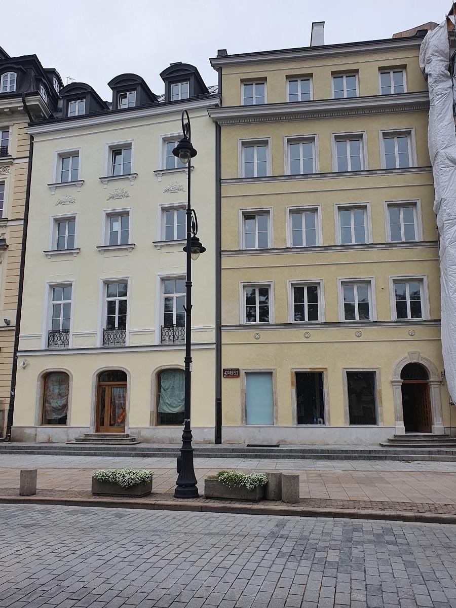 kamienice przy Krakowskim Przedmieściu