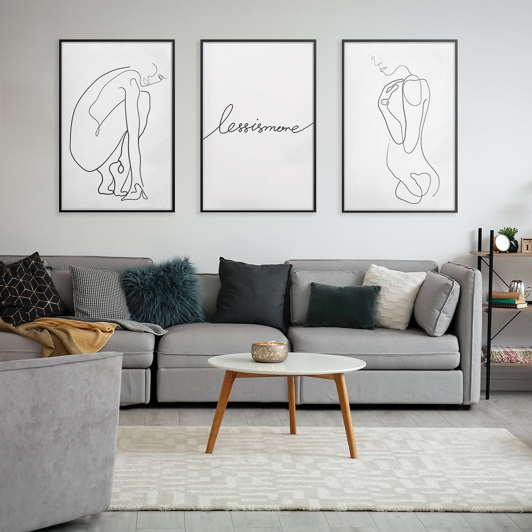 minimalistyczne plakaty
