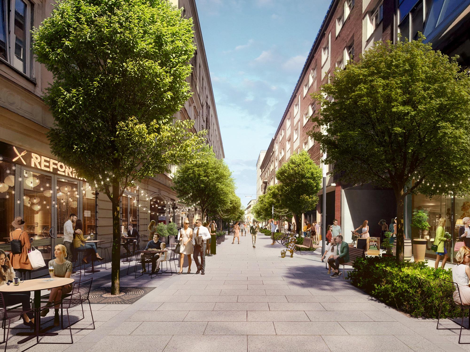 Chmielna w Warszawie zostanie przebudowana