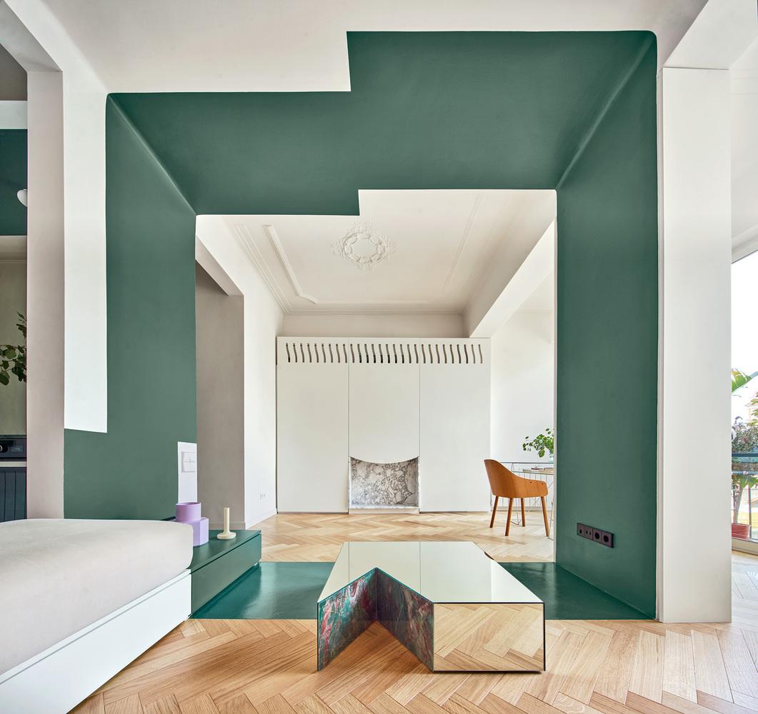 Mieszkanie z zielonym akcentem