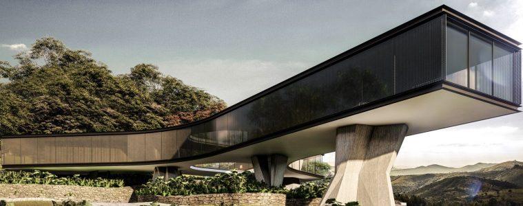 Dom na betonowych nogach