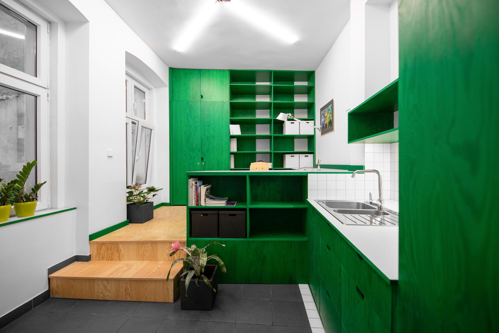 Wnętrze atelier urbanistycznego w Poznaniu