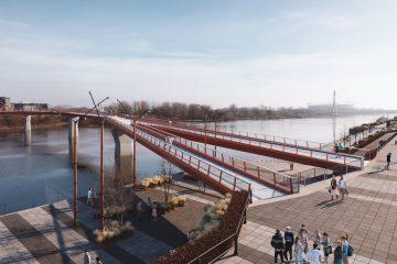 Kładka nad Wisłą w Warszawie tańsza niż zakładano